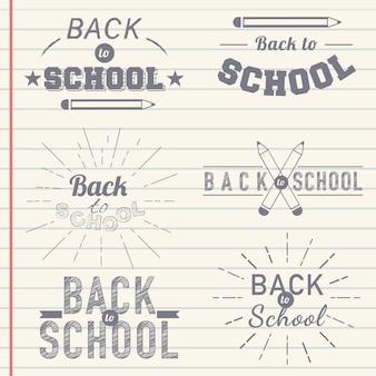 Insignia de regreso a la escuela