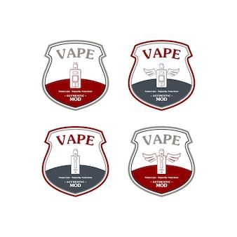 Insignia retra electrónica de la etiqueta del e-cigarrillo del vaporizador eléctrico del cigarrillo