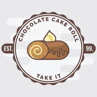 Insignia del rollo de pastel de chocolate