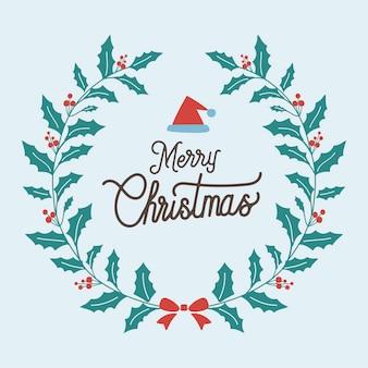 Insignia de saludo de feliz navidad