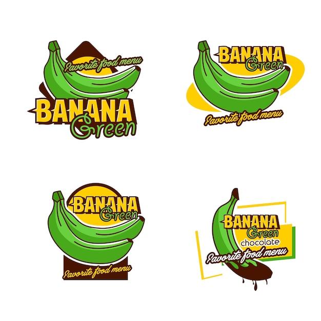 Una insignia de set banana logo