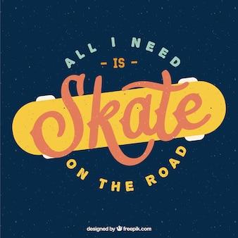 Insignia skate en estilo retro