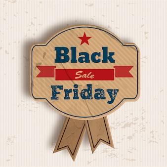 Insignia para la venta del viernes negro.