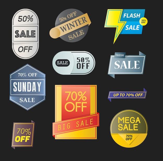 Insignia de ventas de diacount