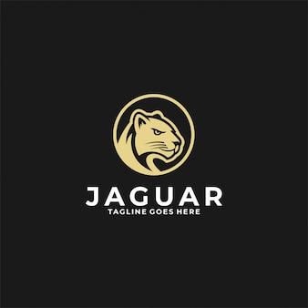 Insignia vintage con logo jaguar head