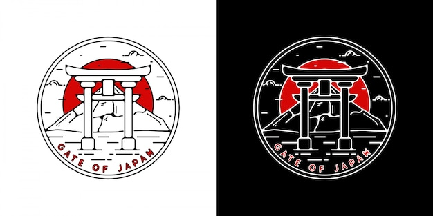 Insignia vintage de monoline japan