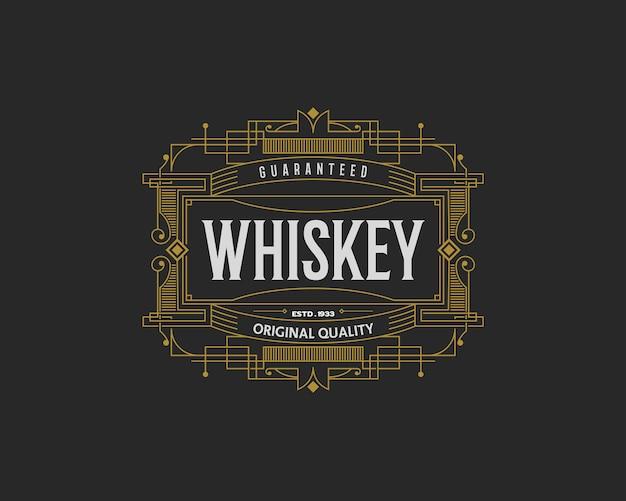Insignia de whisky con marco deco