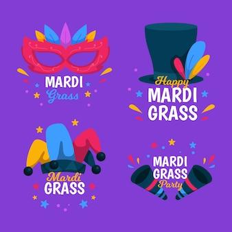 Insignias de accesorios de carnaval de mardi gras