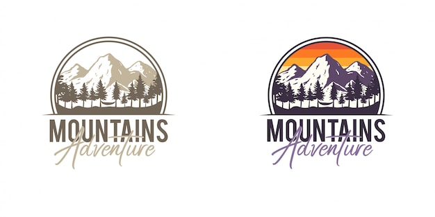 Insignias de aventura en la montaña