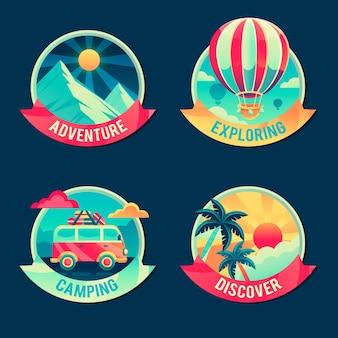Insignias de aventuras detalladas