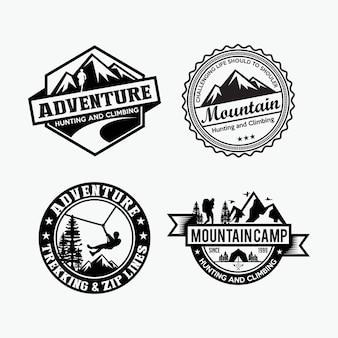 Insignias de aventuras y logotipo