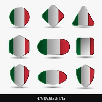 Insignias de la bandera de italia