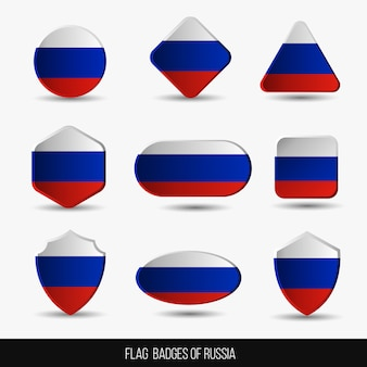 Insignias de la bandera de rusia
