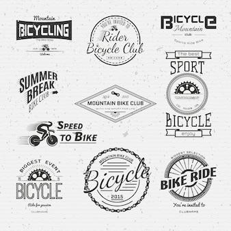 Insignias de bicicleta logotipos y etiquetas para cualquier uso.