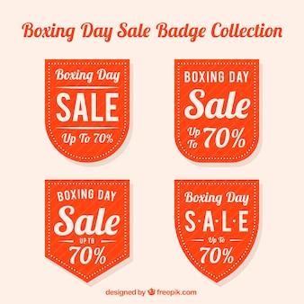 Insignias del boxing day en varias formas