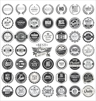 Insignias de calidad de diseño vintage retro