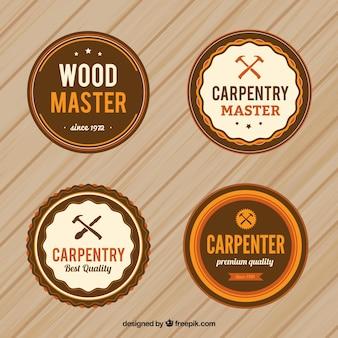 Insignias de carpintería circulares