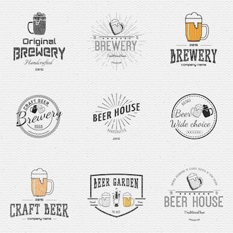 Insignias de cerveza logotipos y etiquetas para cualquier uso.