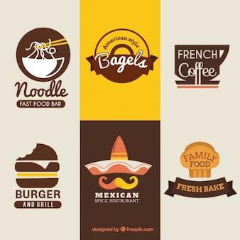 Insignias de comida internacional