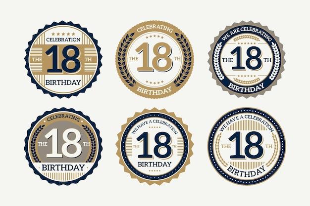 Insignias de cumpleaños número 18