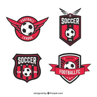 Insignias de la liga de fútbol