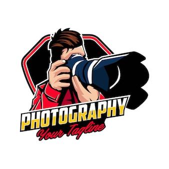 Insignias de logotipo de fotografía de cámara