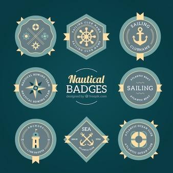 Insignias decorativas vintage marineras