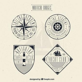Insignias decorativas vintage de navegación
