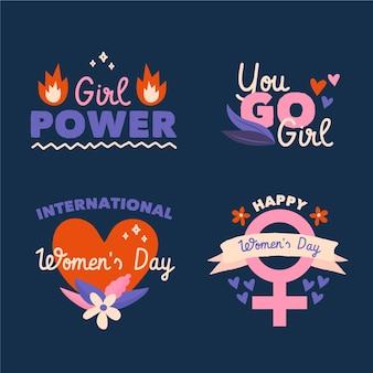 Insignias del día internacional de la mujer