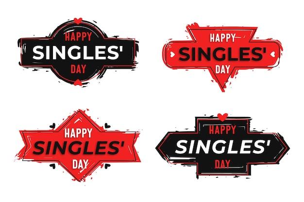 Insignias del día de solteros