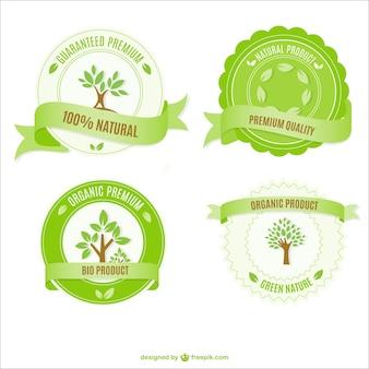 Insignias de ecología gratis
