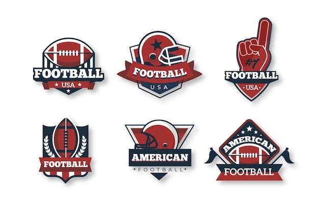 Insignias de fútbol americano estilo retro