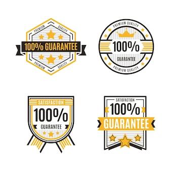 Insignias de garantía del cien por ciento