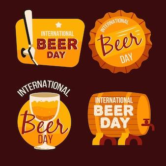 Insignias de letras del día internacional de la cerveza