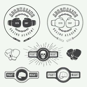 Insignias del logotipo del boxeo