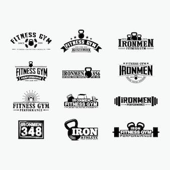 Insignias de logotipo de fitness 1