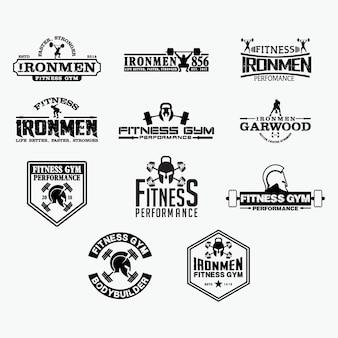 Insignias de logotipo de fitness 2