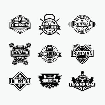 Insignias de logotipo de fitness 3