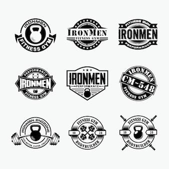 Insignias de logotipo de fitness 4