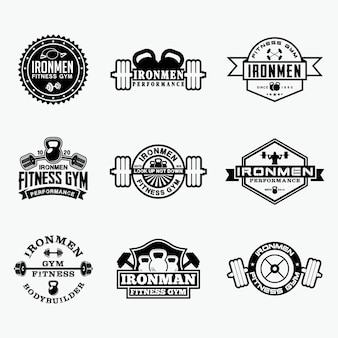 Insignias de logotipo de fitness 5