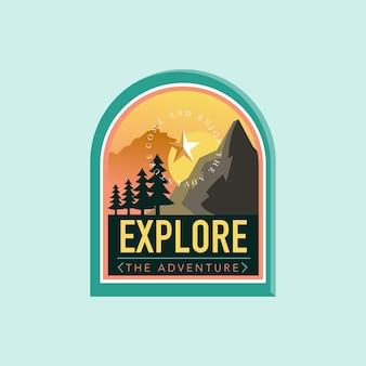 Insignias de logotipo de montaña