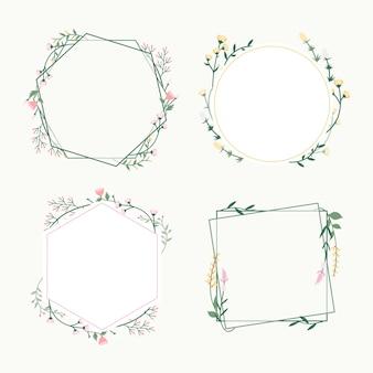 Insignias de marco floral