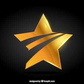 Insignias de oro de estrella