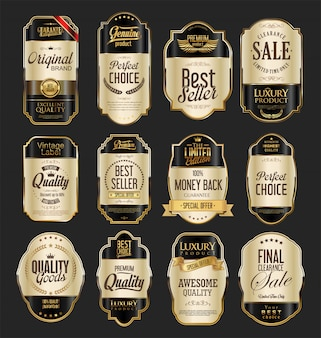 Insignias de oro premium de lujo