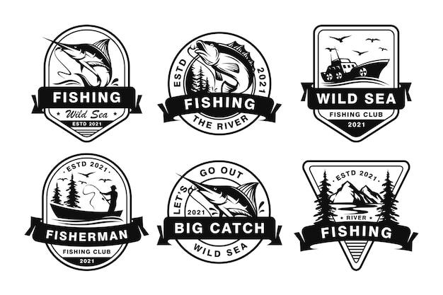 Insignias de pesca deportiva profesional