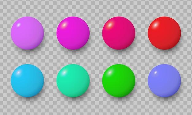 Insignias de pin de colores. insignia de oficina de color de moda. conjunto aislado de broche de disco