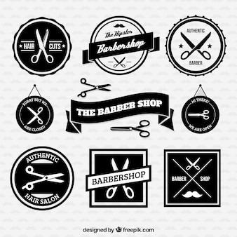 Insignias retro barbería