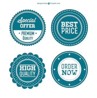 Insignias retro de mejores precios