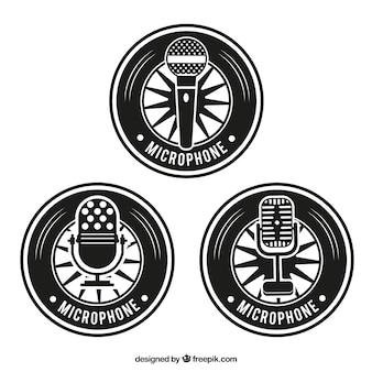 Insignias retro micrófono