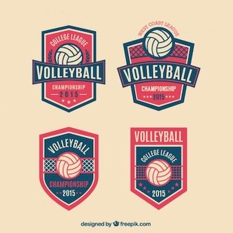 Insignias voleibol paquete